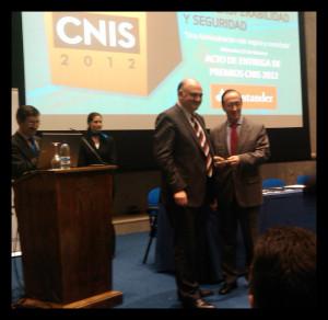 lliurament del premi CNIS 2012 a Joan A. Olivares, Consorci AOC