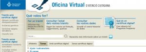 Oficina Virtual d'Atenció Ciutadana de Mataró