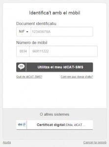 idCAT-SMS_login