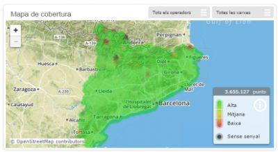 """""""Cobertura mòbil"""", una app feta per i amb la col·laboració de la ciutadania"""
