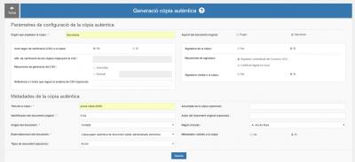 El servei CÒPIA, l'aplicació per generar còpies autèntiques, disponible a EACAT