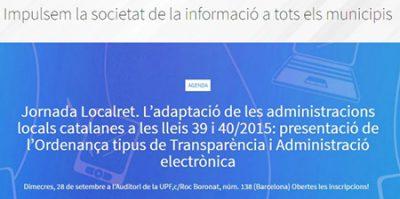 Jornada Localret dedicada al nou model d'Ordenança tipus adaptada als darrers canvis legals