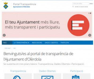 L'Ajuntament d'Olèrdola activa el seu portal de transparència