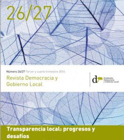 """Darrera edició de la """"Revista Democracia y Gobierno Local"""" dedicada a la transparència"""