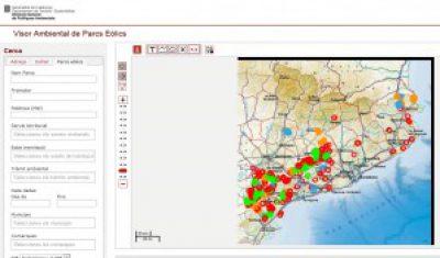 El mapa web dels parcs eòlics de Catalunya utilitza les eines de Geolocal
