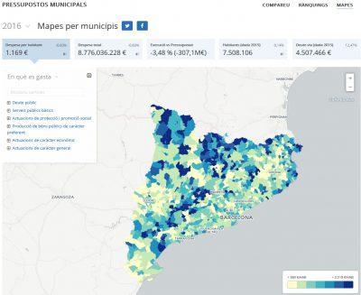 El web de pressupostos municipals, reconegut internacionalment
