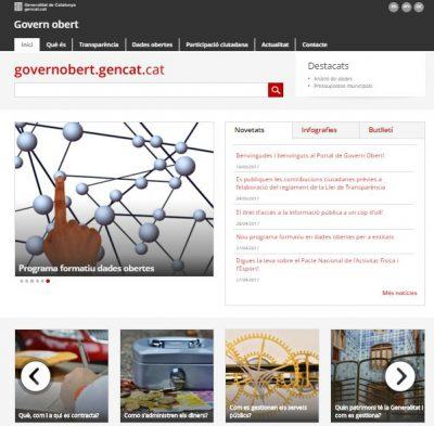 Nou portal de Govern Obert de la Generalitat que unifica transparència, dades obertes i participació ciutadana