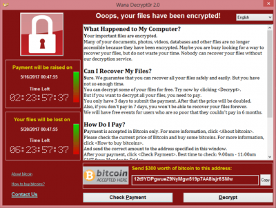 Nota informativa en relació al ciberatac massiu de 12 de maig de 2017 per Ransomware (WannaCry)