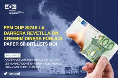 No et remou la consciència cremar els diners públics? Col·labora en el repte AOC!