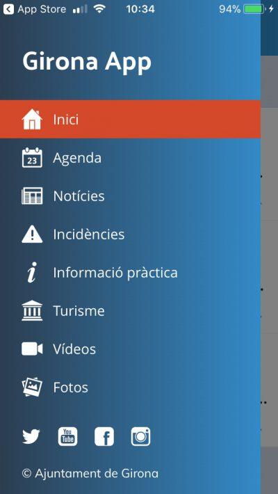Girona renova l'app d'informació ciutadana per a dispositius mòbils