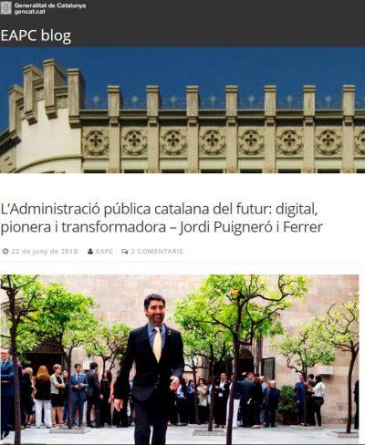 L'Administració pública catalana del futur: digital, pionera i transformadora – Jordi Puigneró