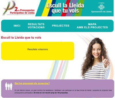 Els lleidatans voten els pressupostos amb idCAT Mòbil
