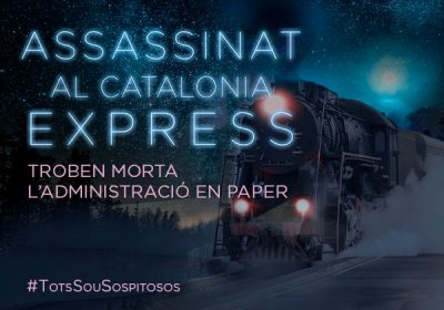 "Jornada e-Administració: ""Assassinat al Catalonia Express"""