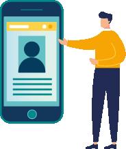 Mòbil gegant amb dades personals