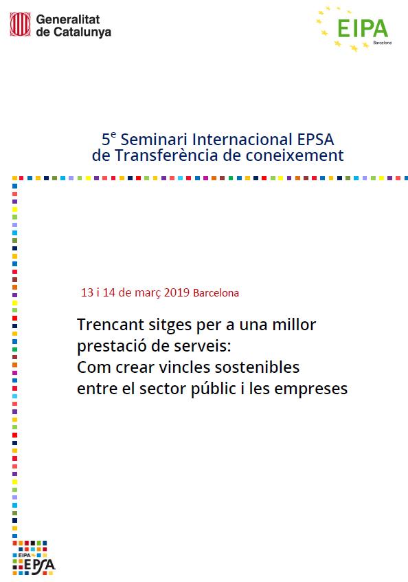 Cinquè seminari Internacional EPSA de Transferència de coneixement