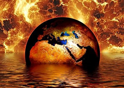 Bola del món que emergeix de les aigües