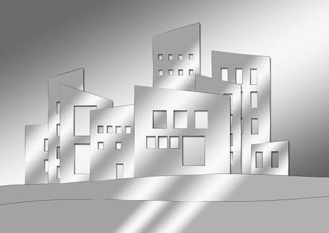 Dibuix digital dels edificis d'una ciutat