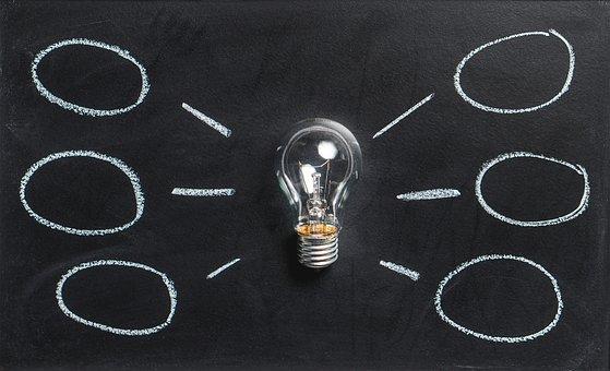 Bombeta representant una idea que produeix diversos projectes
