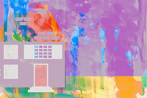 Cases pintades abstractament