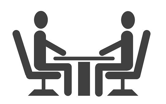 Dos persones interactuant
