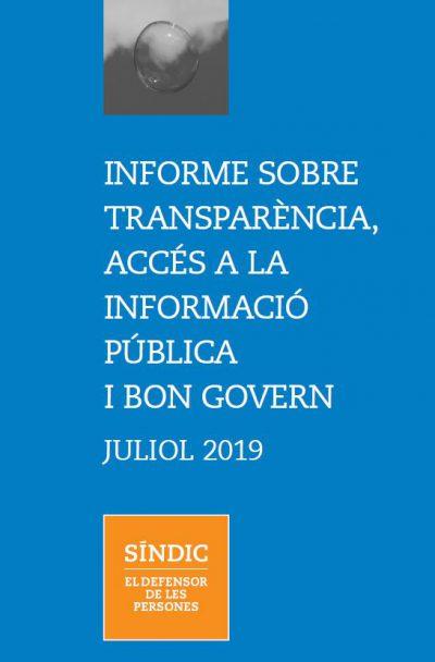 El Síndic detecta un alentiment del compliment de les obligacions de transparència per part dels ens públics