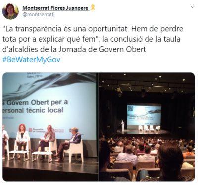 """Resum """"piulat"""" de la Jornada de Govern Obert per a electes i personal tècnic local"""