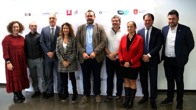 Representants dels vuit socis del projecte