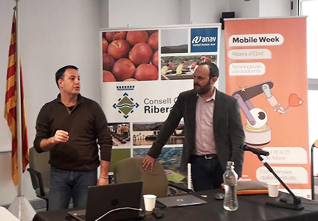 Albert Pujol i Ferran Farriol durant la presentació