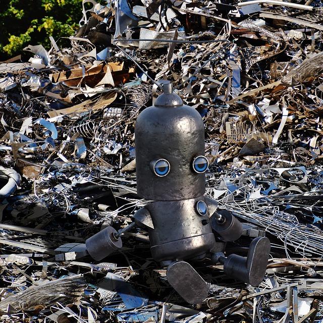 Un robot creat amb deixalles