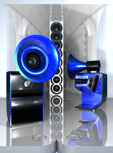 Megàfon sofisticat de color blau