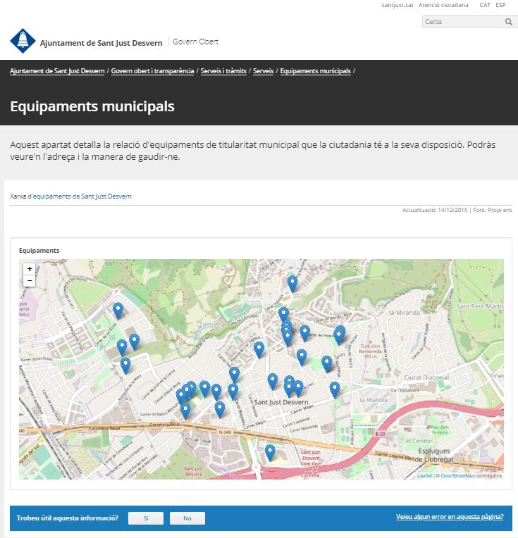 NOTA: podeu veure el resultat directament al portal de transparència de Sant Just Desvern al següent enllaç.
