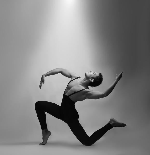 Un ballarí ballant