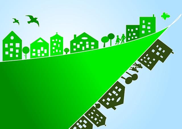 El dibuix d'una ciutat verda