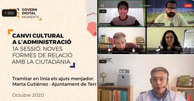 """Els vídeos de la sessió """"Noves formes de relació amb la ciutadania"""" ja estan disponibles"""