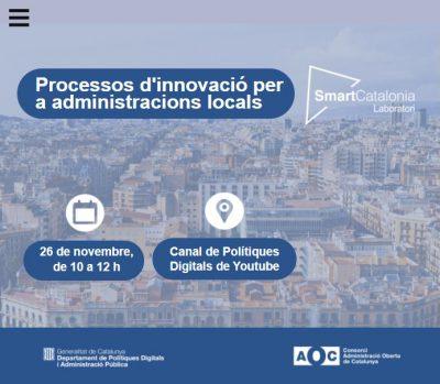 """Inscriu-te a la jornada """"Processos d'innovació per a administracions locals"""""""