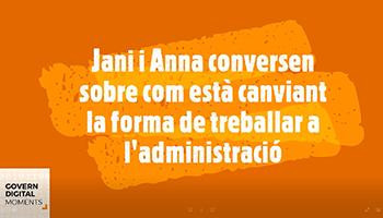 Jani i Anna conversen sobre com està canviant la forma de treballar a l'administració
