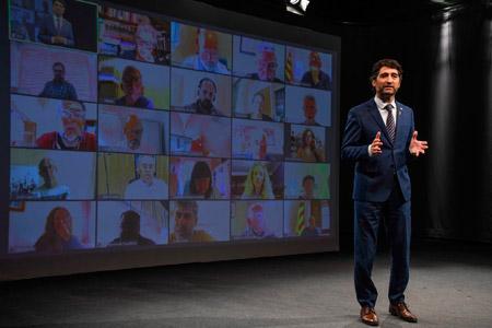 Conseller Jordi Puigneró durant la presentació