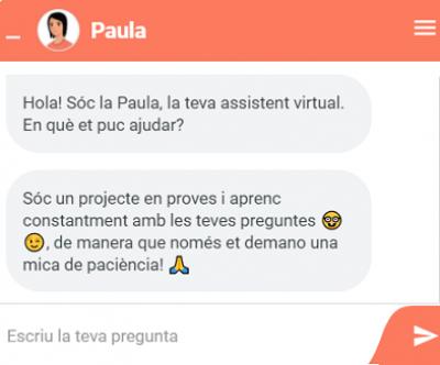 Estrenem la Paula, el xatbot  de l'AOC que dona suport al servei VALid