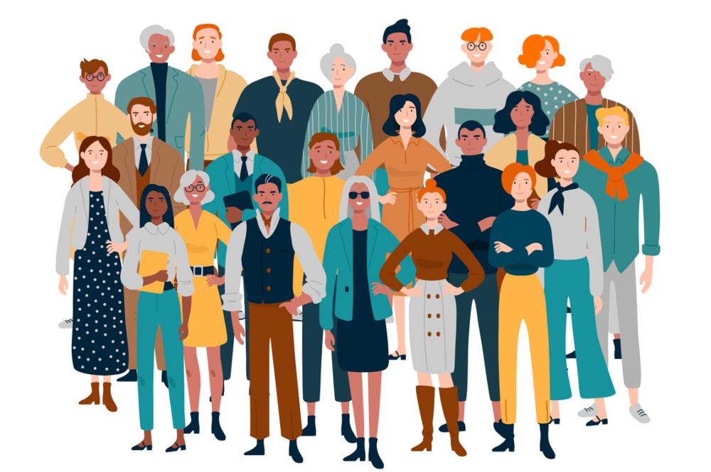 Imatge d'un grup heterogeni de persones